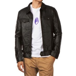 Men's Nixon Riot Black Leather Jacket
